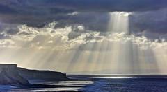 Earth to Calm (pauldunn52) Tags: coast glamorgan heritage whitmore stairs light burst sun cloud cliffs