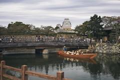 Himeji Castle (r0yc3) Tags: himeji castle hyogo japan bridge moat boat overcast
