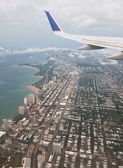 Chicago from the air (floating_stump) Tags: chicago illinois airplane lakemichigan