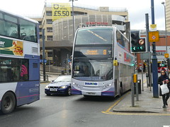 Rotala Diamond Bus North West 33696 191105 Manchester [hired] (maljoe) Tags: rotaladiamondbusnorthwest rotaladiamondbus rotala alexanderdennisenviro400 alexanderdennis