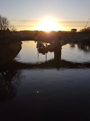 20191211_082955 (Stitchinscience) Tags: sunrise winter bridge water river