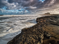 Mid Morning Bamburgh (captures.in.time) Tags: landscape landscapephotography northumberland england iconic le longexposure water rock ngm ngc photography seascape coastal coast beach rocks bamburgh castle sunrise northumbria canon canonphotography