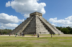 Temple of Kukulcan (Chichen Itza, Mexico) (My Wave Pics) Tags: mexico stone mayan travel chichen landmark yucatan itza old pyramid tourism mexican maya culture temple world monument ancient kukulkan vacation america religion city civilization archeology chichenitza architecture archaeological indian stairs religious ruin kukulcan worship destination wonder sacred famous sky antique archaeology site heritage tourist castillo el precolumbian american