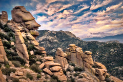 Stacked (larwbuck) Tags: arizona landscape boulders clouds colors mountains rocks rural sky winter