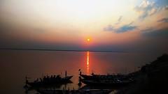 Rajshahi Padma River.. (ahsan al imran) Tags: boat rise river sun sunset sunrise padma padmariver red yellow sunlight water landscape tourism rajshahi canon canon1100d 18135mm sky cloud wide hdwallpaper hd photography bangladesh bangladeshi