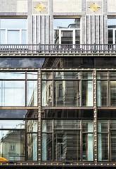 opdeling in vlakken (roberke) Tags: windows ramen vensters architecture architectuur reflections reflectie gebouw building wenen vienna austria wien facade gevel glas glass verdiepen etages