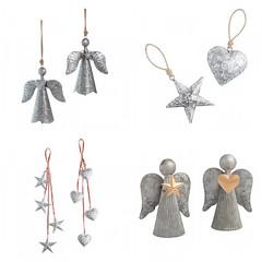 Galvanized Christmas Ornaments (Heath & the B.L.T. boys) Tags: galvanized metal christmas ornaments heart star nordic scandinavian