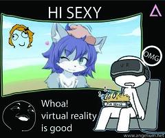 Virtual Reality Avatar (Angelium1) Tags: cross reality vr entertainment virtual technology
