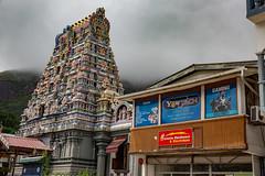 the rock (Rasande Tyskar) Tags: victoria mahe´ seychelles seychellen indian ocean street streetshot haus häuser houses house building temple hindi hindu