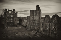 the Cathedral (johnny_9956) Tags: religion cathedral scotland elgin morayshire building ruin church canon outside outdoor sepia blackandwhite bw 7d history historic