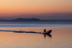Dusk (Massimo_Discepoli) Tags: people lake water dusk boat surreal moody sunset reflections