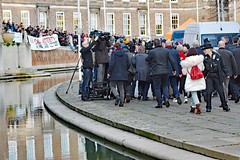 media scrum 9839 (m.c.g.owen) Tags: 9th december jeremy corbyn rally labour party bristol leader the opposition general election uk england great britain media politics politicians college green council house hall campaign united kingdom