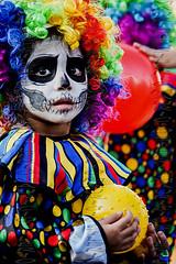 clown (Mau Silerio) Tags: clown klovn portrait culture parade festival celebration carnival catrina day dead luminarias colorful costume makeup ball mauricio silerio child