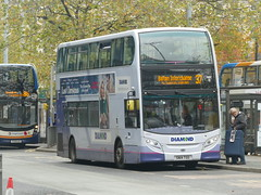 Rotala Diamond Bus North West 33835 191105 Manchester [hired] (maljoe) Tags: rotaladiamondbusnorthwest rotaladiamondbus rotala alexanderdennisenviro400 alexanderdennis