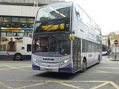 Rotala Diamond Bus North West 33713 191105 Manchester [hired] (maljoe) Tags: rotaladiamondbusnorthwest rotaladiamondbus rotala alexanderdennisenviro400 alexanderdennis