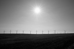 Wind Turbine Silhouettes (Mike Ver Sprill - Milky Way Mike) Tags: wind turbine silhouette landscape oregon sun mills outdoors travel explore fields wheat