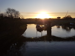 20191211_083006 (Stitchinscience) Tags: sunrise winter bridge water river