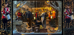 Christmas in Dublin  ~HWW ~ in Explore (Wendy:) Tags: explore vitrine christmas drummers foxes dublin shop windows hww triptych monaghans