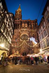 Strasbourg Cathedral (jo.haeringer) Tags: strasbourg alsace france cathedral fuji xt2 christmasmarket christmas night cityscape