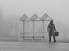 Jetzt reichts (flori schilcher) Tags: schilcher bushaltestelle nebel herbst