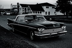 Midnight Chrysler (MIKOFOX ⌘) Tags: canada automobile summer noir xt2 chrysler learnfromexif monochrome july bw fujifilmxt2 blackandwhite classiccar showyourexif mikofox xf35mmf2rwr tiffenfilter tiffendfx proviaasbase
