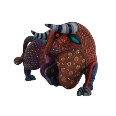 TORO the BULL (alebrijesforsale) Tags: oaxacanartform oaxacan oaxacanartforsaleonline mexicanwoodcarvings animalwoodcarvingforsale florenciofuentesmelchor