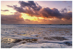 Sunset   Beach (Onascht) Tags: lighthouse d850 nikon brandung water sunset amateurphotography lzb wintersun sun sea beach photoart outside longexposure northsea nikonphotography heaven netherlands winter digitalart art nordholland clouds