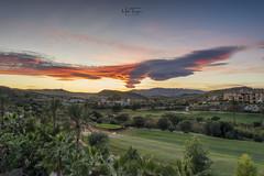 Dragon over Bedar! (miketonge) Tags: valledeleste dragon bedar almeria spain golf course mountains sunset mojacar dusk clouds venticular fiery andalucia nikon d850 nisifilters