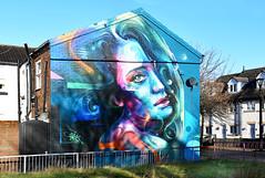 NEW BRIGHTON MURALS SERIES # 16 : RAINBOW GODDESS. (tommypatto : ~ IMAGINE.) Tags: newbrighton streetart murals merseyside