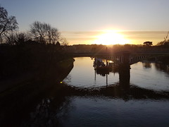 20191211_083013 (Stitchinscience) Tags: sunrise winter bridge water river