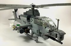 AH-1Z Viper (3) (Lonnie.96) Tags: lego brick model moc own creation usmc 2000 2010 united states americaunited marine corp attack helicopter ah1z viper bell 2019 december heli twin seat cockpit air assault pod rocket sidewinder missile gun grey gray dark bley rotor body tail 26