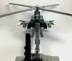 AH-1Z Viper (4) (Lonnie.96) Tags: lego brick model moc own creation usmc 2000 2010 united states americaunited marine corp attack helicopter ah1z viper bell 2019 december heli twin seat cockpit air assault pod rocket sidewinder missile gun grey gray dark bley rotor body tail 26