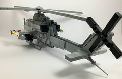 AH-1Z Viper (2) (Lonnie.96) Tags: lego brick model moc own creation usmc 2000 2010 united states americaunited marine corp attack helicopter ah1z viper bell 2019 december heli twin seat cockpit air assault pod rocket sidewinder missile gun grey gray dark bley rotor body tail 26
