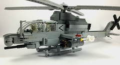 AH-1Z Viper (1) (Lonnie.96) Tags: lego brick model moc own creation usmc 2000 2010 united states americaunited marine corp attack helicopter ah1z viper bell 2019 december heli twin seat cockpit air assault pod rocket sidewinder missile gun grey gray dark bley rotor body tail 26