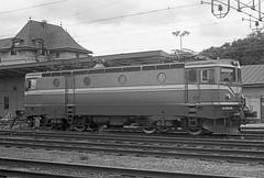 SJ Swedish Railways Class Rc4 electric loco No. 1318 at Uppsala on 1 July 1985 (Trains and trams eveywhere) Tags: sj asea swedishstaterailways electric locomotive trains railways scandinavia swedishrailways uppsala