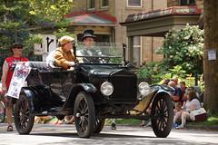 Less-Than-Grand-Marshall 1 (wwimble) Tags: doodahparade 2014 shortnorth columbus ohio independenceday fourthofjuly parade lessthangrandmarshall ford modelt crank tophat