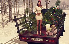 Ready For Christmas! (kare Karas) Tags: woman lady femme girl girly sweet cute beauty pretty sensual sexy seduce holidays christmas december virtual avatar secondlife sl blogger spam events mesh bento shoes gacha outfit earrings poses outdoors snow cold fashion style ebentoevent elgato as mosquitosway unikevent fashiowlposes winterspiritevent