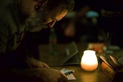 Kill Bill (claudia 222) Tags: amsterdam noctilux 50mm night candlelight dark color bar