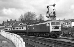 Class 47 47569 leaves Norwich with a service to London Liverpool Street 02/04/1983. (flashbangmilly) Tags: 47569 norwich london liverpool br cl47