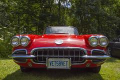 1958 Chevrolet Corvette (Racquel Heron) Tags: car cars classic classiccar carshow corvette chevrolet red museum outdoor stouffville ontario canada vehicle