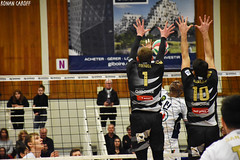 DSC_0235 (Ronan Caroff) Tags: sport sports deporte volley volleyball voleibol men man boy garcon indoor france bretagne breizh brittany illeetvilaine 35 rennes roazhon tours liguea nikon d5600 championnat championship colettebesson team équipe effort