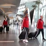 UAE National Team arrives to hamad airport 25-11121