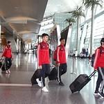 UAE National Team arrives to hamad airport 25-11112
