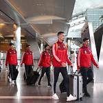 UAE National Team arrives to hamad airport 25-11111