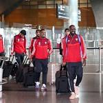 UAE National Team arrives to hamad airport 25-11093