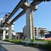 Tama Monorail Train Arriving at Koshu-kaido Station 6
