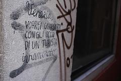 street poetry (David Locke) Tags: venezia venice street wall graffiti calligraphy poetry