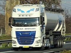 DAF XF116 superspacecab from van Dijk Genemuiden Holland. (capelleaandenijssel) Tags: 38bld4 truck trailer lorry camion lkw netherlands nl tanker citerne