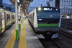JR East E233-6000 (H009), Hachioji (Howard_Pulling) Tags: e233 japan japanese train trains zug bahn bahnhof station rail railway