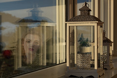 Mirroring virtual reality (Honza 007) Tags: lady mirror mirroring window colours colour virtual reality